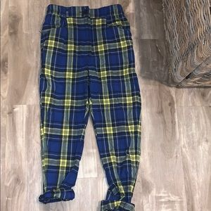 Urban outfitters plaid pants!